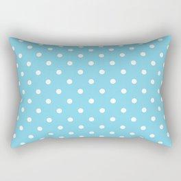Girls just wanna have dots - teal white Rectangular Pillow