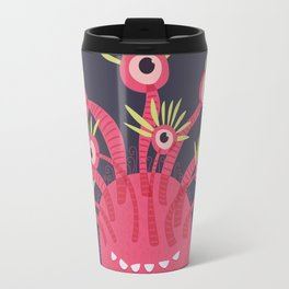 Funny Pink Monster With Eleven Eyes Travel Mug