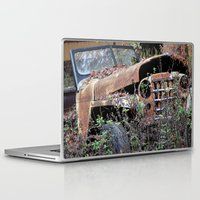 jeep Laptop & iPad Skins featuring Vintage Jeep by Victoria Rushie