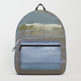 Turquoise Winter Waves and Sky Backpack