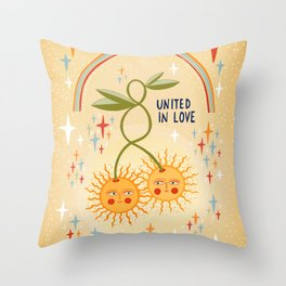 United in love Throw Pillow