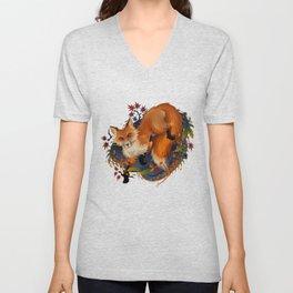 Sly Fox Spirit Animal Unisex V-Neck
