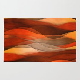 """Sea of sand and caramel waves"" Rug"