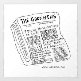 Good News! Art Print