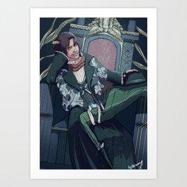The King Sits Here Art Print