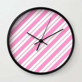 Rose Quartz Peppermint Wall Clock
