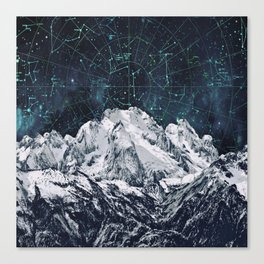 Constellations over the Mountain Canvas Print
