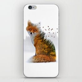 Wild I Shall Stay | Fox iPhone Skin