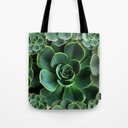 JADE GREEN SUCCULENT ROSETTES DESIGN Tote Bag