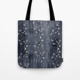 Flower Vines and Concrete Grunge Tote Bag