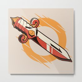 Old School Dagger Metal Print