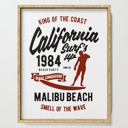 king of the coast california Serving Tray