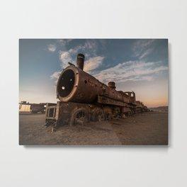 Train Cemetery, Uyuni Metal Print