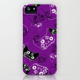 Video Game Purple iPhone Case