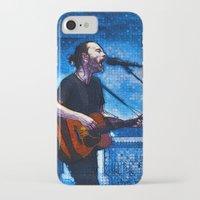 radiohead iPhone & iPod Cases featuring Radiohead / Thom Yorke by JR van Kampen