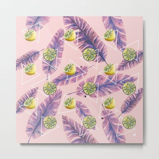 Banana leaf and lemons Metal Print