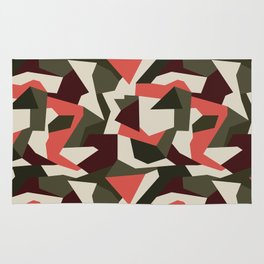 Camouflage pattern Rug