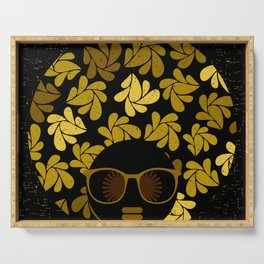 Afro Diva : Gold Serving Tray
