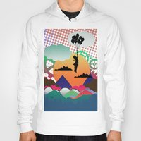 collage Hoodies featuring collage by mark ashkenazi