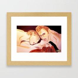 The Vampire Diaries  Framed Art Print