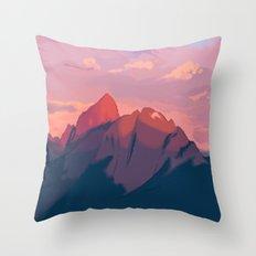 Sunset Hues Throw Pillow