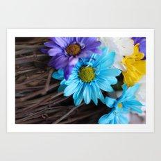 Gerbera daisy Flowers  Art Print