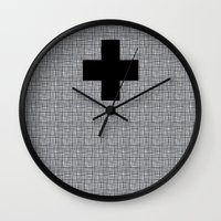 cross Wall Clocks featuring Cross by SuzanneCarter