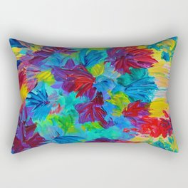 TUTTI FRUTTI - Fruit Punch Floral Bouquet Flowers Bright Bold Colorful Painting Romantic Rainbow Rectangular Pillow