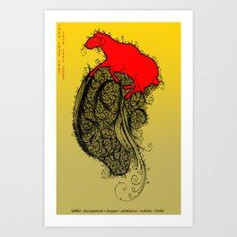 Chinese Zodiac Sheep Art Print