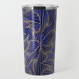 Tangles Blue and Gold Travel Mug