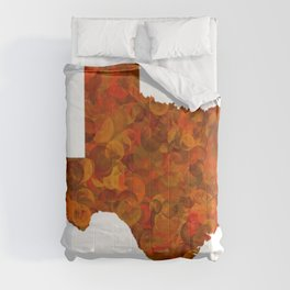 Texas State Map Art Design Comforters