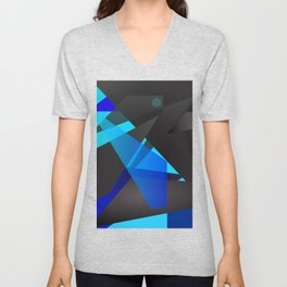 Abstract digital geometric painting for home decoration, frames and clothing. Unisex V-Neck
