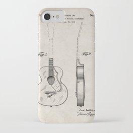 Accoustic Guitar Patent - Classical Guitar Art - Antique iPhone Case