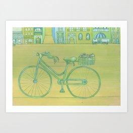 """""""Bicycle Picnic"""" Art Print"""