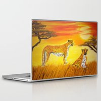 tigers Laptop & iPad Skins featuring Tigers Sun by ArtSchool