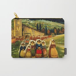 Vintage Abruzzo Italy Travel Carry-All Pouch