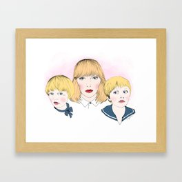Mina bestyr Framed Art Print