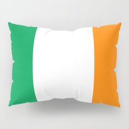 Irish national flag - Flag of the Republic of Ireland, (High Quality Authentic Version) Pillow Sham