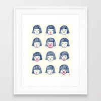 bubble Framed Art Prints featuring Bubble bubble bubble gum by Young Ju