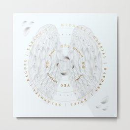 Angelic Connections | Pendulum Board Metal Print