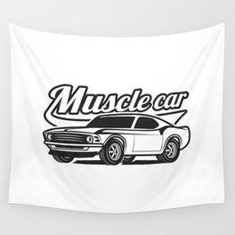 Muscle retro car Wall Tapestry