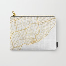 TORONTO CANADA CITY STREET MAP ART Carry-All Pouch