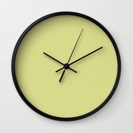 Light Olive Solid Color Block Wall Clock