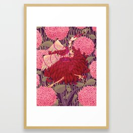 Voracious Chrysanthemums Framed Art Print