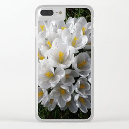 WHITE SPRING CROCUSES Clear iPhone Case