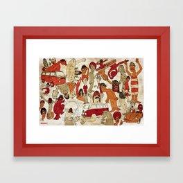 Go Longboard Vintage Framed Art Print