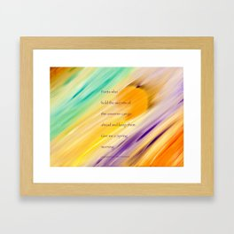 """""""Catch The Sun"""" with poem: Spring Morning Framed Art Print"""