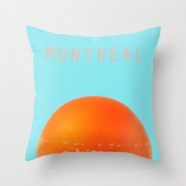 MONTREAL PASTEL Orange Julep Throw Pillow