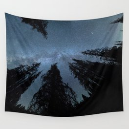 Celestial Starlight In The Forest Near Lake Irene Colorado Wall Tapestry