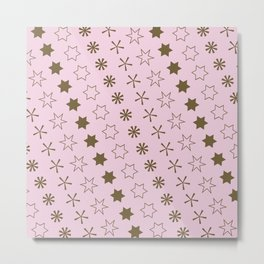 Asterisk-a-thon Pink Metal Print